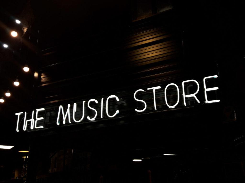 Music Store Neon Sign